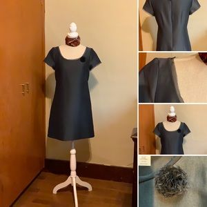 J. CREW charcoal grey cotton/silk occasion dress